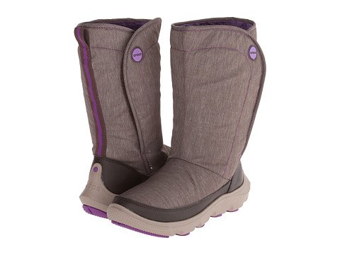 Crocs - Duet Busy Day Boot (Espresso/Mushroom) Women's Boots