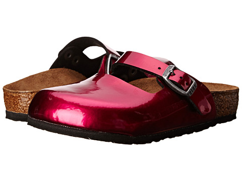 Birkenstock Kids - Maria (Toddler/Little Kid/Big Kid) (Magenta Steel Birko-Flor ) Girls Shoes