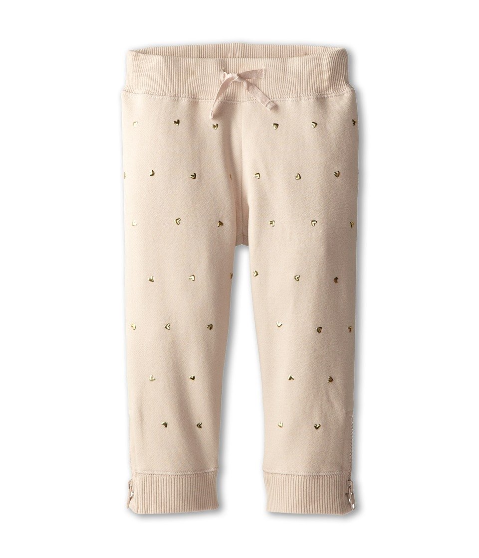 Stella McCartney Kids - Zoey Girls Sweatpant w/ Gold Heart Studs (Toddler/Little Kids/Big Kids) (Pink) Girl's Casual Pants