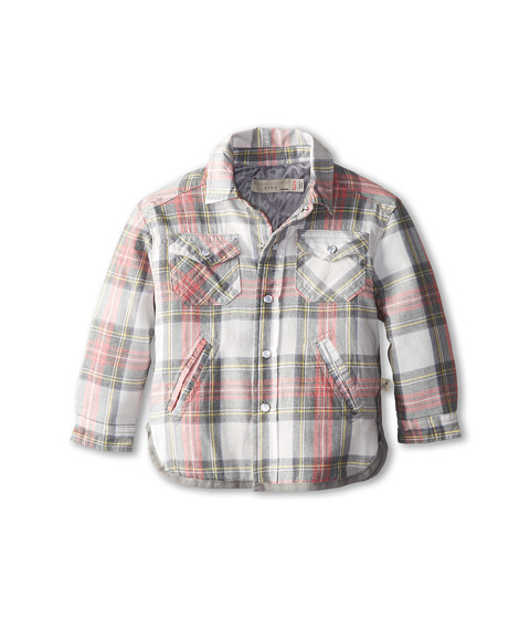 Stella McCartney Kids - Hunter Baby Boy Woven Plaid Shirt (Infant) (Red Check) Boy's Coat