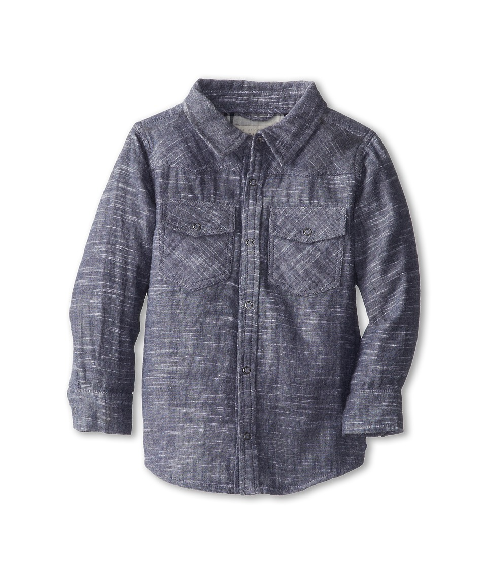 Stella McCartney Kids - Alasdshair Baby Boy Chambray Shirt (Infant) (Blue) Boy's Long Sleeve Button Up