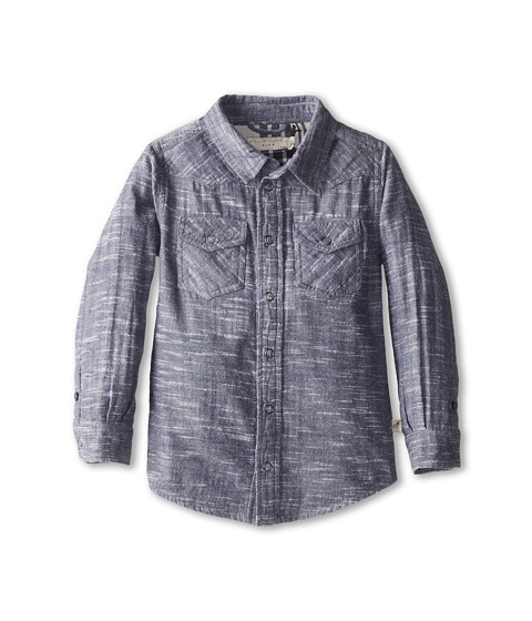 Stella McCartney Kids - Alasdhair Boys Chambray Button Down Shirt (Toddler/Little Kids/Big Kids) (Blue) Boy's Long Sleeve Button Up