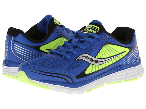 Saucony Kids - Kinvara 5 (Little Kid) (Blue/Citron) Boys Shoes