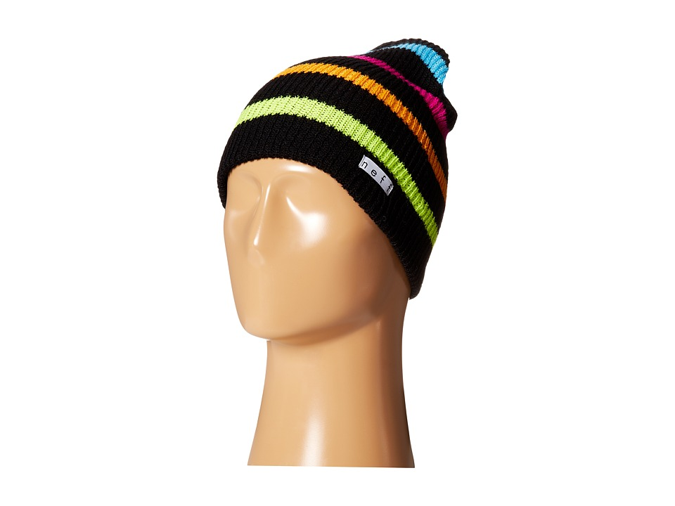 Neff - Daily Stripe Beanie (Black/Multi) Beanies