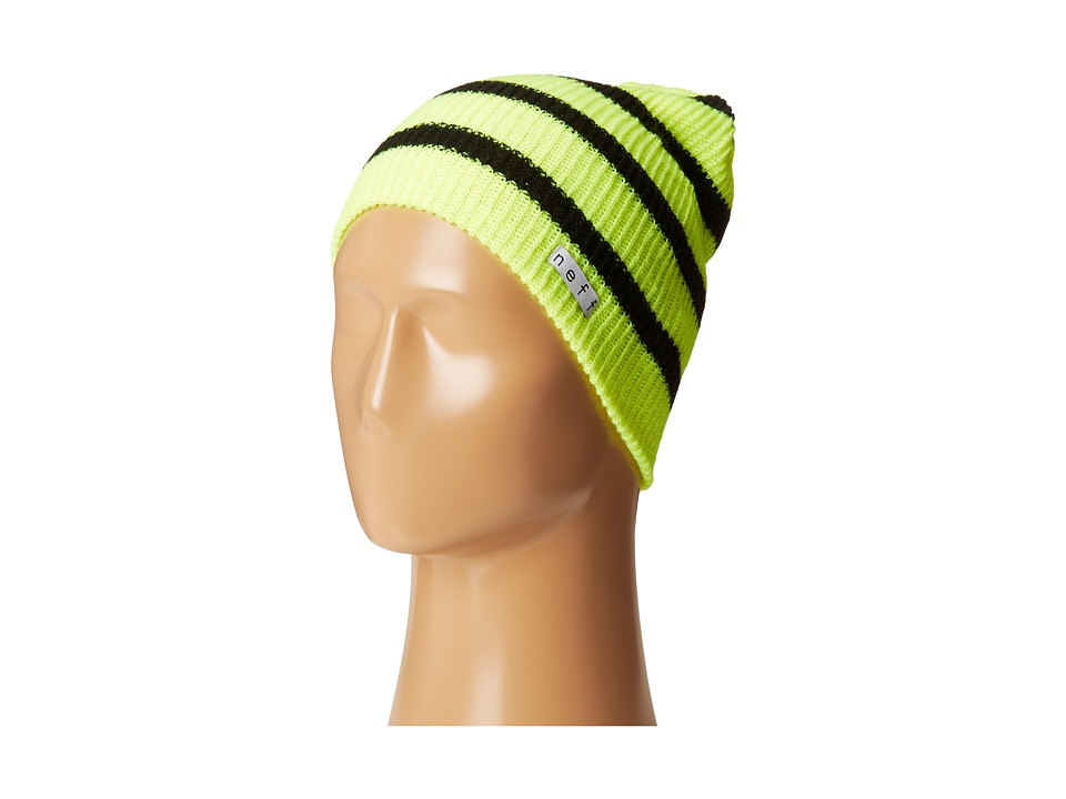 Neff - Daily Stripe Beanie (Tennis/Black) Beanies