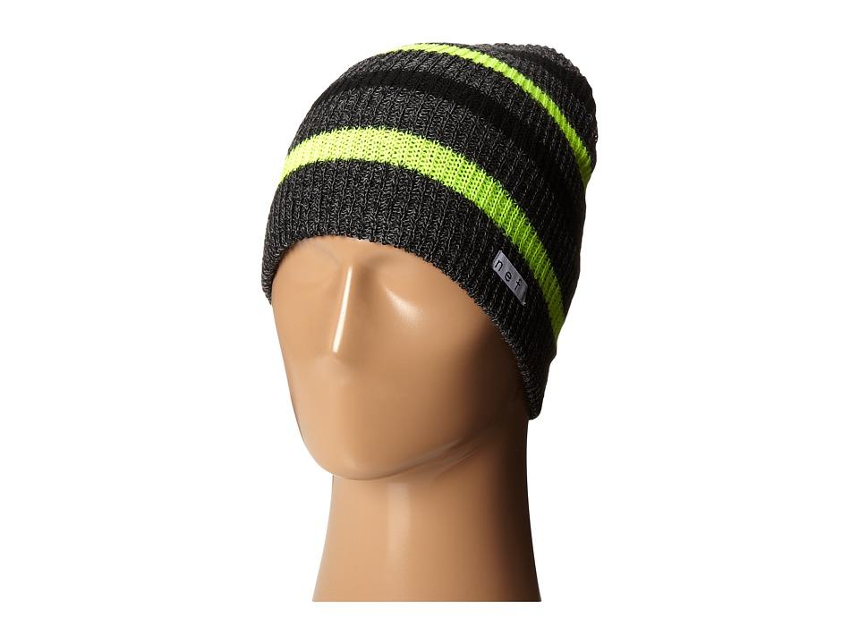 Neff - Daily Stripe Beanie (Charcoal/Tennis) Beanies