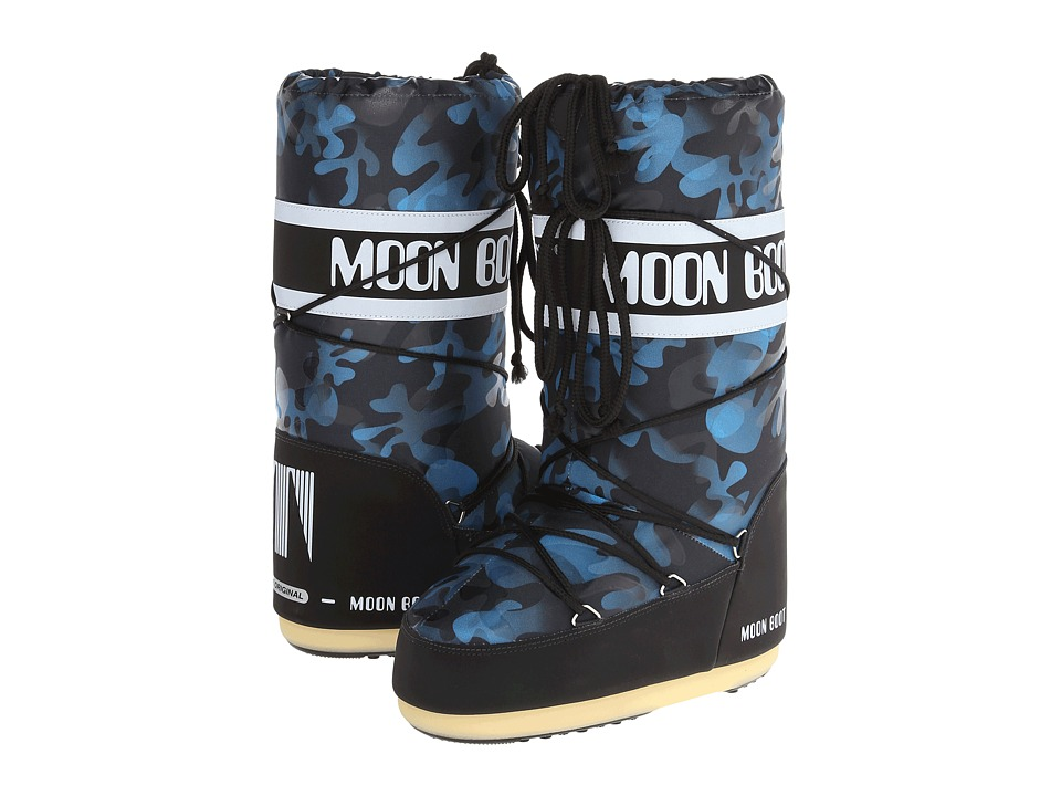 Tecnica - Moon Boot Camu (Black/Blue) Cold Weather Boots