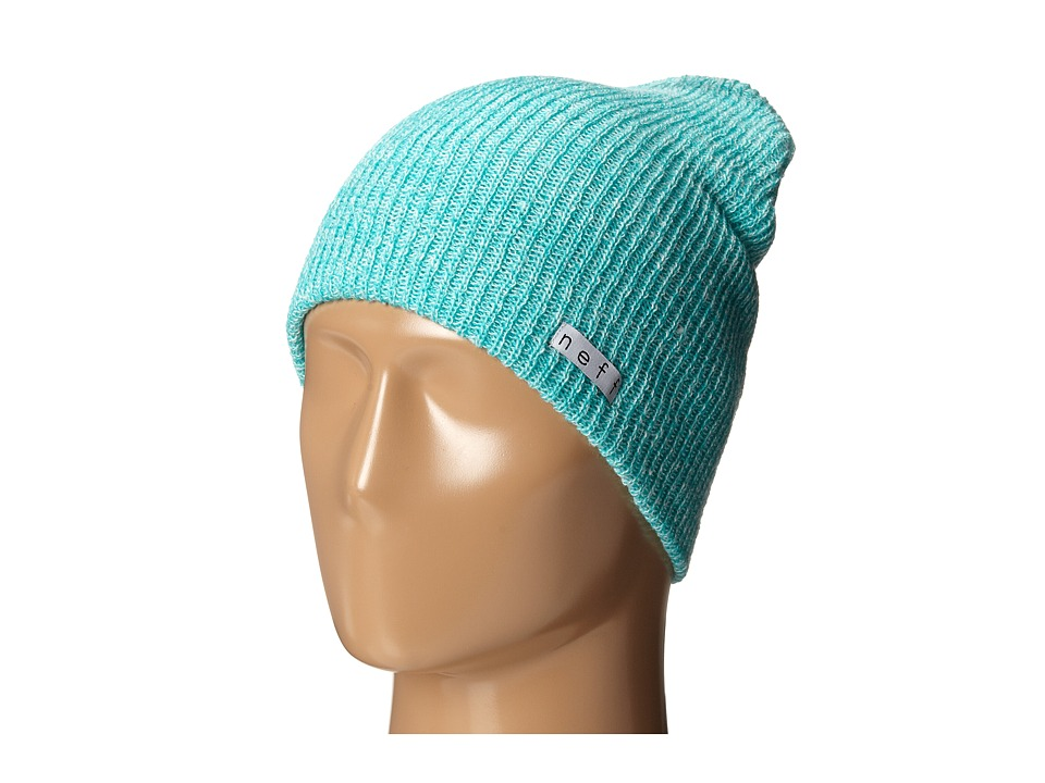 Neff - Daily Heather Beanie (Teal/White) Beanies