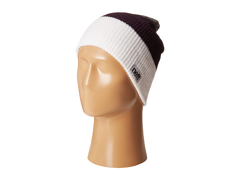 Neff - Trio Beanie (White/Purple/Charcoal) Beanies