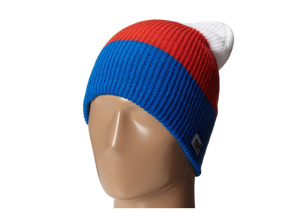 Neff - Trio Beanie (Blue/Red/White) Beanies