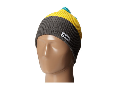 Neff - Trio Beanie (Charcoal/Yellow/Teal) Beanies