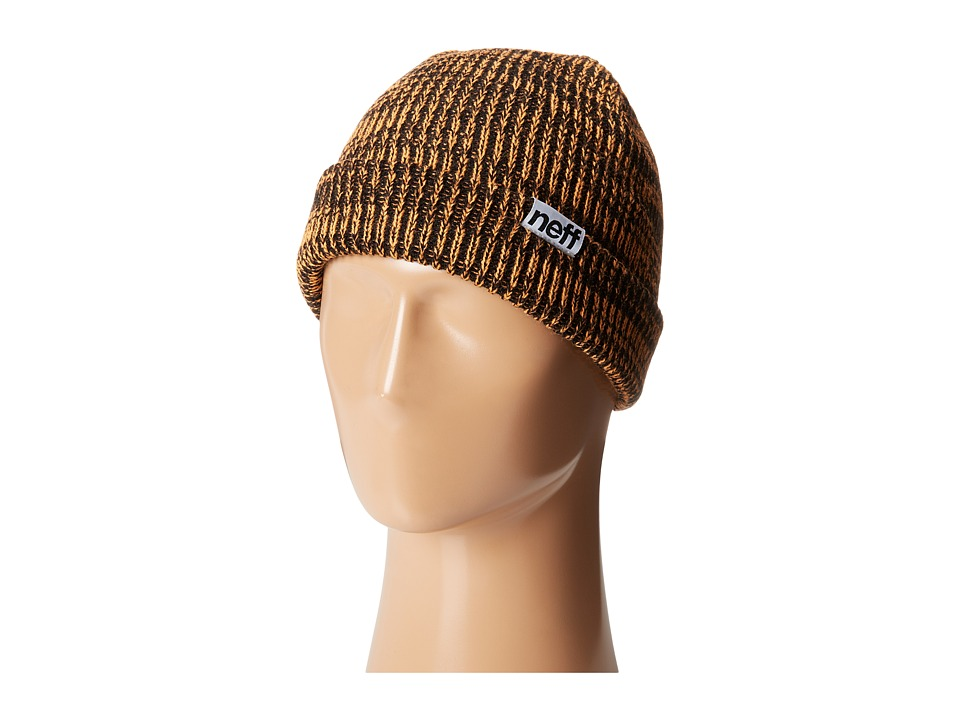 Neff - Slashy Beanie (Black/Orange) Knit Hats