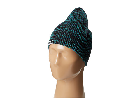 Neff - Slashy Beanie (Black/Teal/Dark Teal) Knit Hats