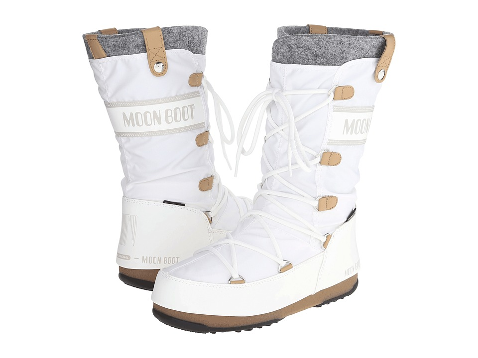 Tecnica Moon Boot(r) Monaco Felt (White) Women