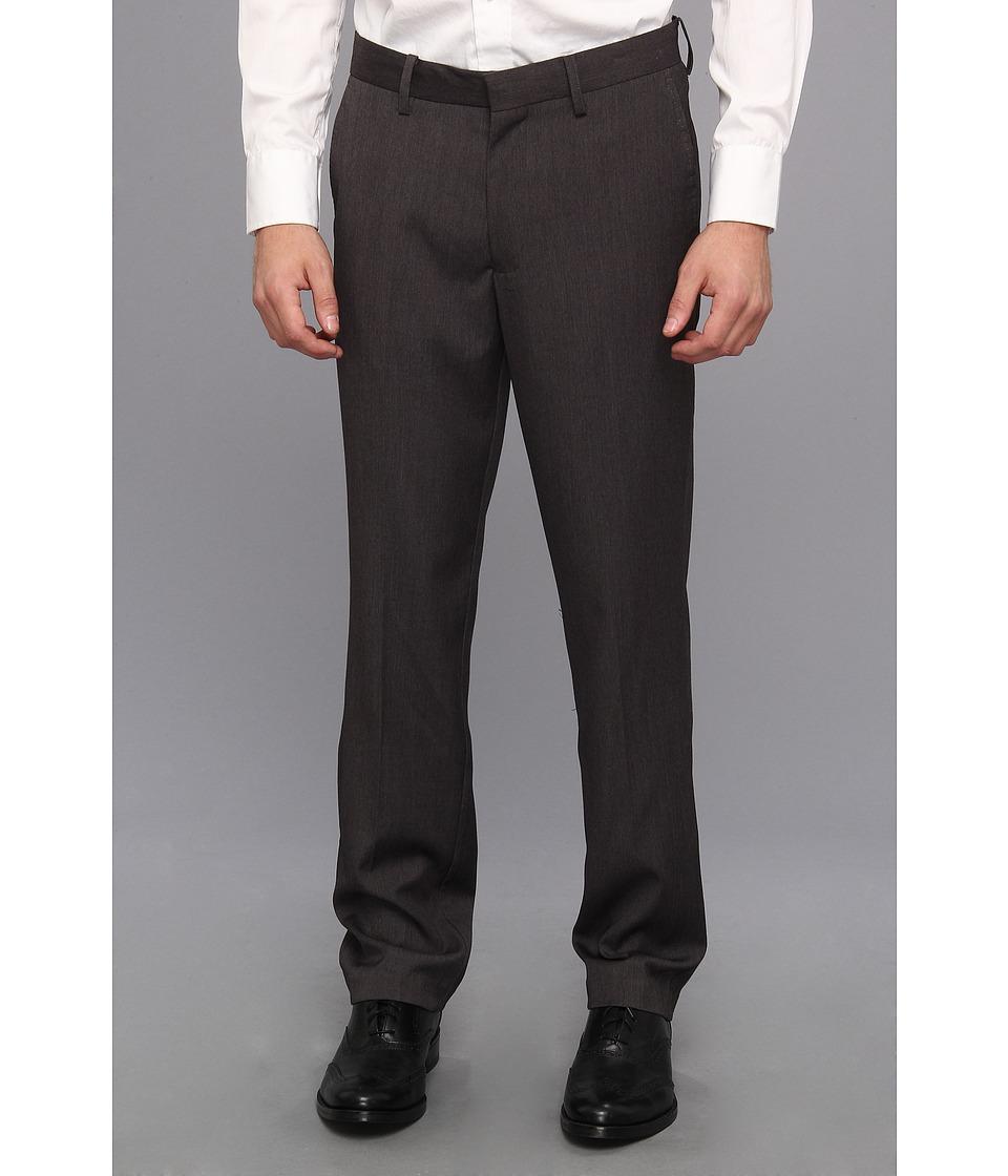Kenneth Cole Sportswear - Solid Dress Pant (Heather Grey) Men's Dress Pants