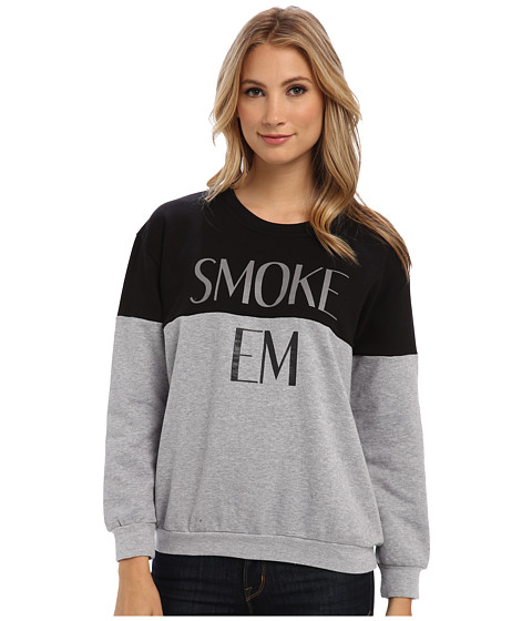 StyleStalker - Smoke Em Sweater (Grey Marle/Black) Women