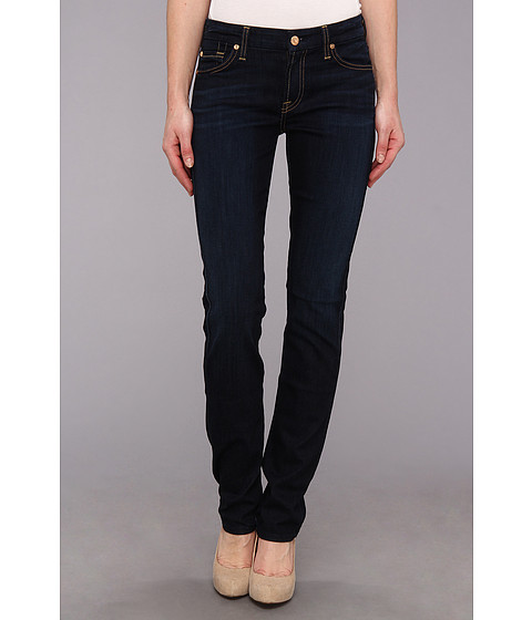 7 For All Mankind - Kimmie Straight in Slim Illusion Classic Dark Blue (Slim Illusion Classic Dark Blue) Women