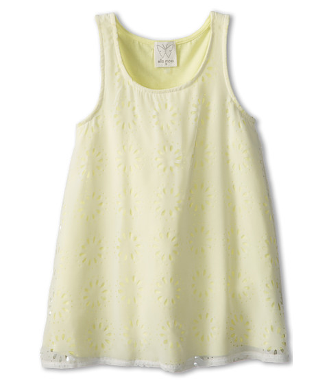 Ella Moss Girl - Cassidy Laser Cut Tank Top (Big Kids) (Light Yellow) Girl's Sleeveless