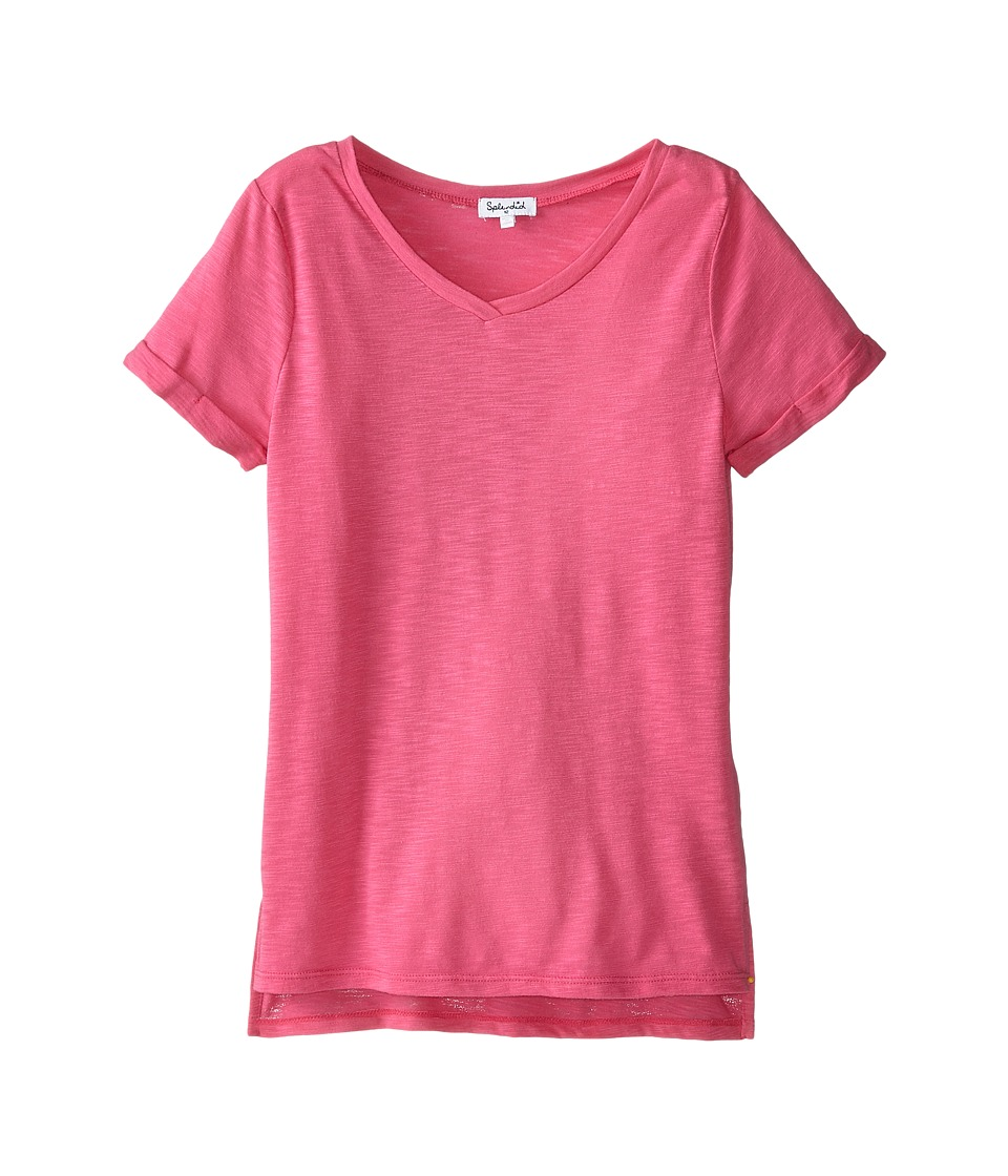 Splendid Littles - Always Slub Jersery S/S V-Neck (Azalea) Girl's T Shirt