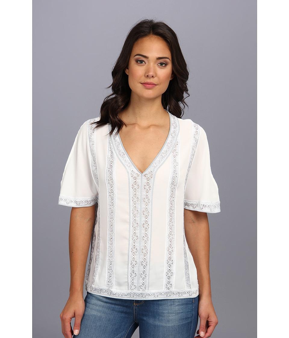 Nanette Lepore - Sangria Top (White) Women's Short Sleeve Pullover