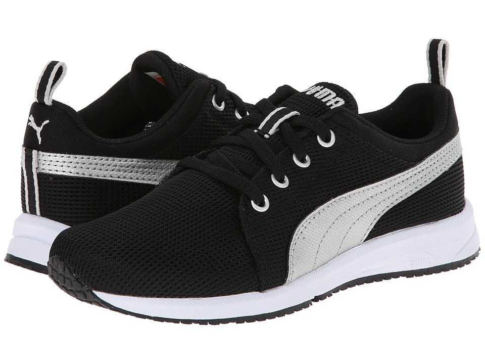 Puma Kids - Carson Runner Jr (Little Kid/Big Kid) (Black/Puma Silver) Kids Shoes