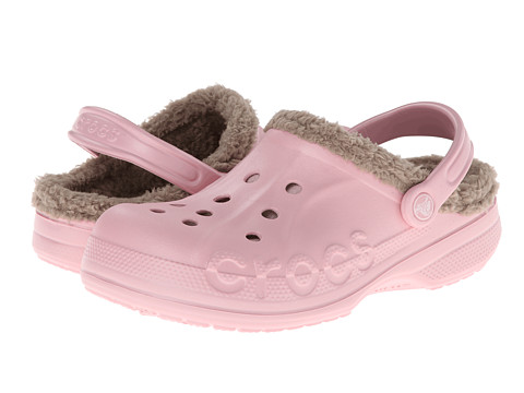 Crocs - Baya Lined (Pearl Pink/Mushroom) Clog/Mule Shoes