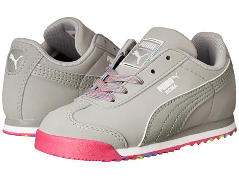 Puma Kids - Roma SL NBK Speckled Kids (Toddler/Little Kid/Big Kid) (Limestone Gray) Girls Shoes