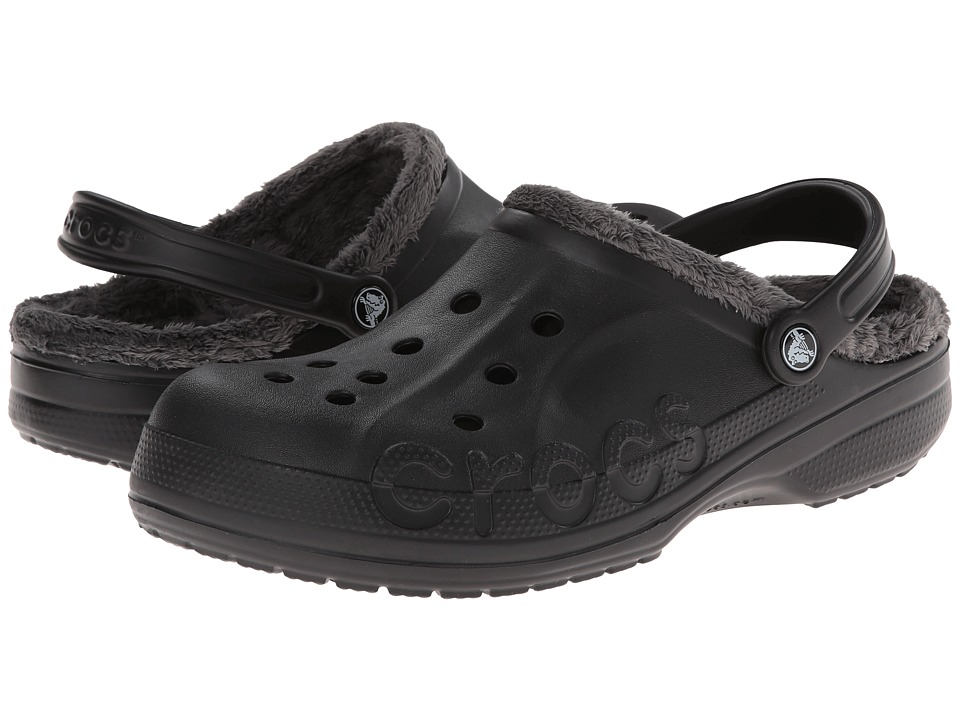 Crocs - Baya Fleece Clog (Black/Graphite) Clog Shoes