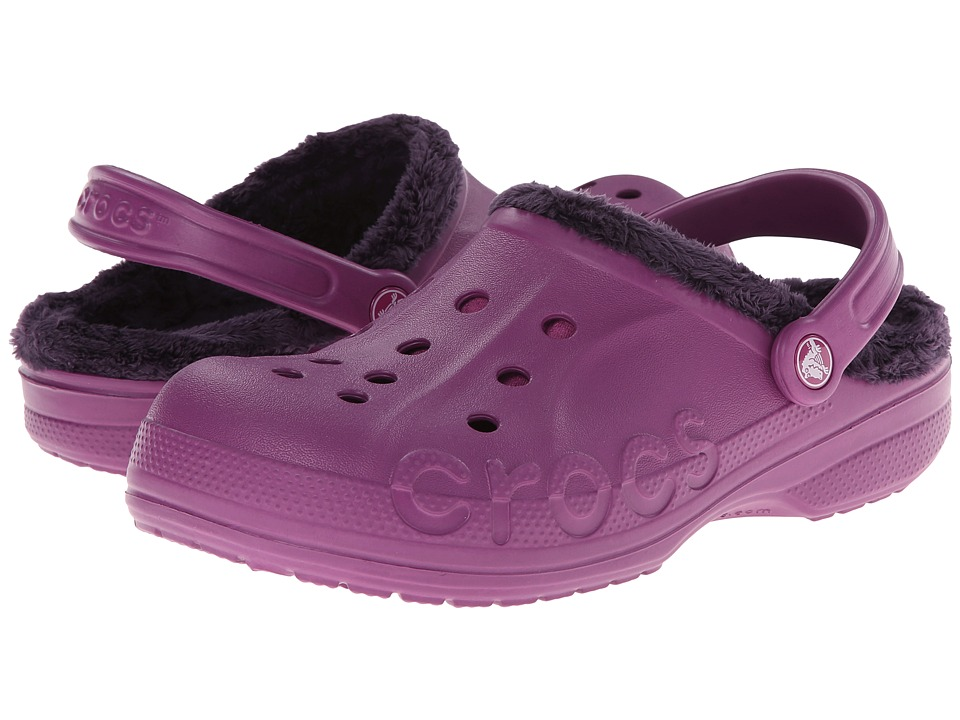 Crocs - Baya Fleece Clog (Viola/Mulberry) Clog Shoes