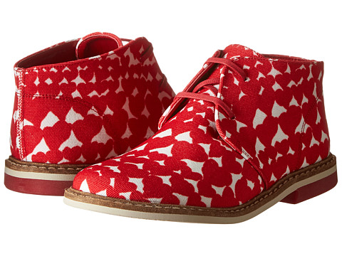 Stella McCartney Kids - Badger Girls Desert Shoe In Heart Print (Toddler/Little Kids) (Red) Girls Shoes