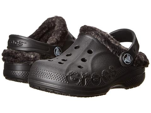 Crocs Kids - Baya Heathered Lined Clog (Toddler/Little Kid) (Black/Black) Kids Shoes