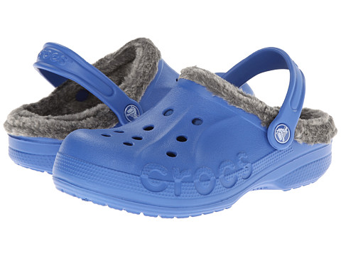 Crocs Kids - Baya Heathered Lined Clog (Toddler/Little Kid) (Sea Blue/Charcoal) Kids Shoes