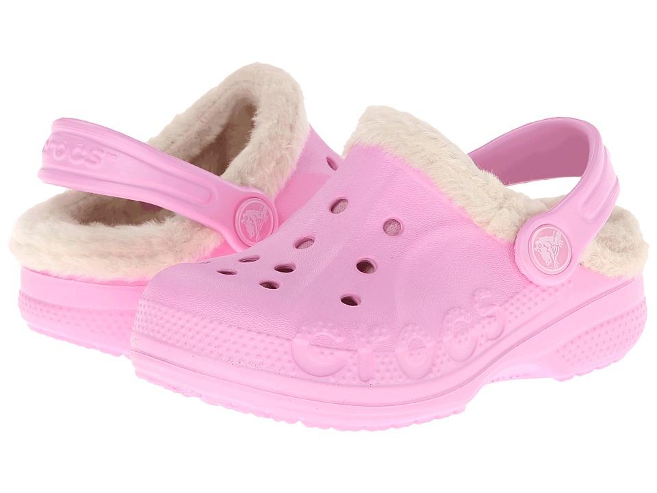 Crocs Kids - Baya Heathered Lined Clog (Toddler/Little Kid) (Carnation/Stucco) Kids Shoes