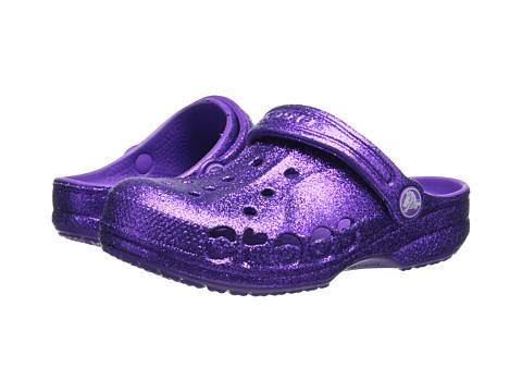 Crocs Kids - Baya Hi Glitter (Toddler/Little Kid) (Neon Purple/Neon Purple) Girls Shoes