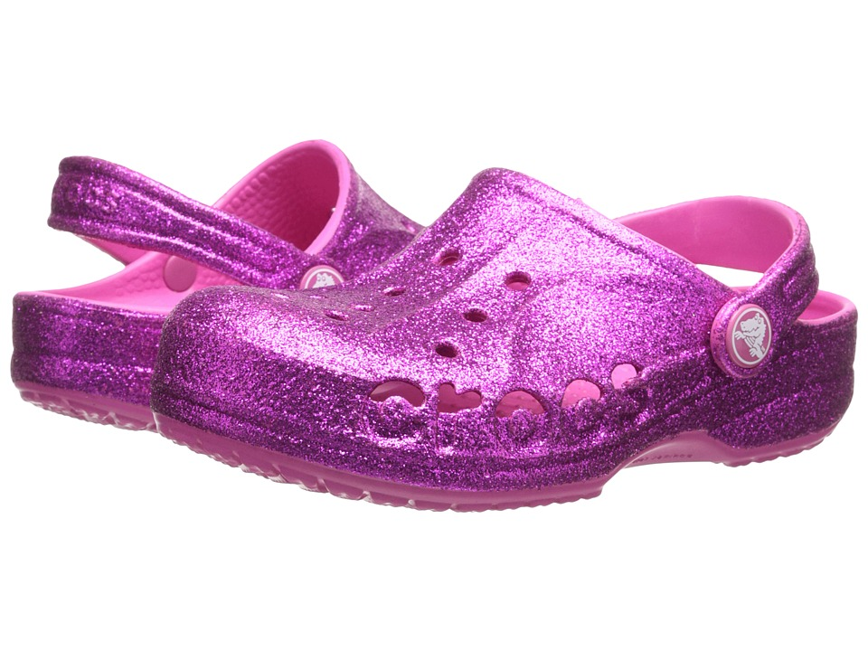 Crocs Kids - Baya Hi Glitter (Toddler/Little Kid) (Vibrant Violet/Fuchsia) Girls Shoes