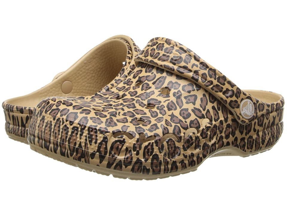 Crocs Kids - Baya Leopard (Toddler/Little Kid) (Gold) Girls Shoes