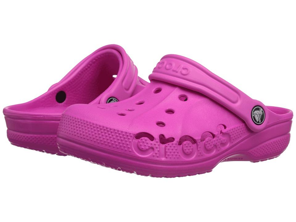 Crocs Kids - Baya (Toddler/Little Kid) (Neon Magenta) Kids Shoes