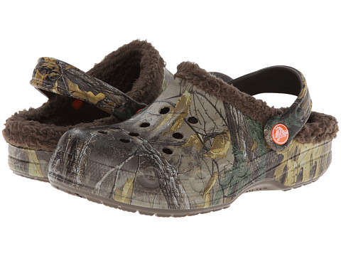 Crocs Kids - Baya Lined Realtree Xtra (Toddler/Little Kid) (Chocolate/Chocolate) Kids Shoes