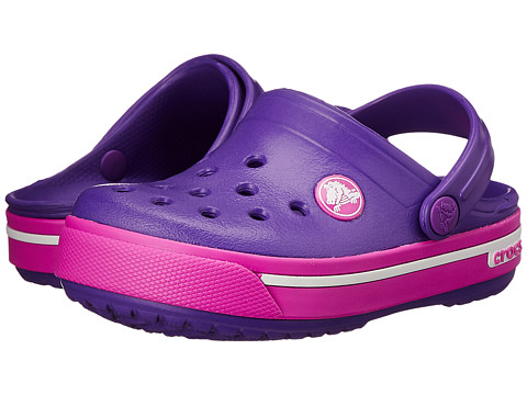 Crocs Kids - Crocband II.5 Clog (Toddler/Little Kid) (Neon Purple/Neon Magenta) Girls Shoes