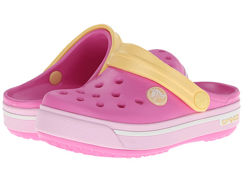 Crocs Kids - Crocband II.5 Clog (Toddler/Little Kid) (Party Pink/Ballerina Pink) Girls Shoes