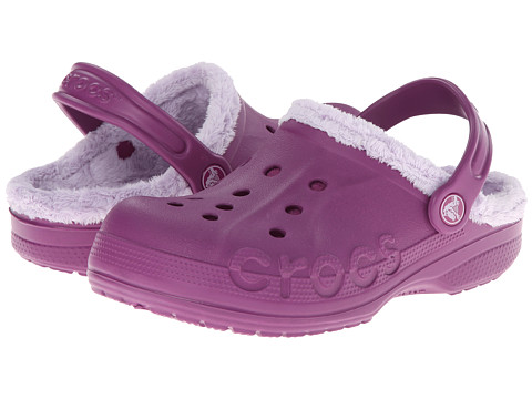 Crocs Kids - Baya Fleece Clog (Toddler/Little Kid) (Viola/Lavender) Girls Shoes