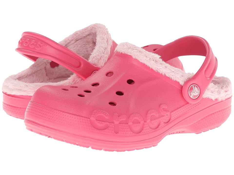 Crocs Kids - Baya Fleece Clog (Toddler/Little Kid) (Hot Pink/Petel Pink) Girls Shoes