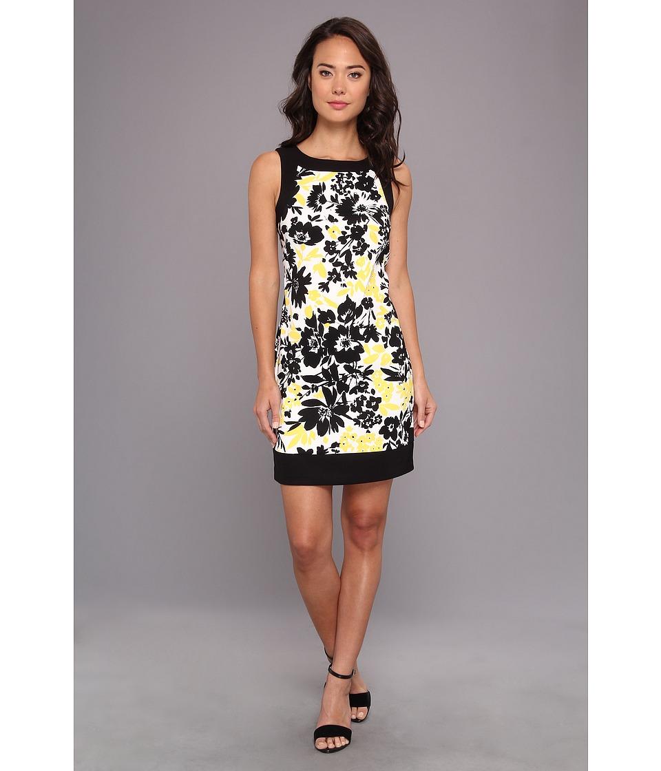 Jessica Howard Sleeveless Framed Sheath Dress Womens Dress (Yellow)