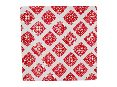 Q Squared - Square Serving Platter Diamond Red (Red/White) Dinnerware Cookware