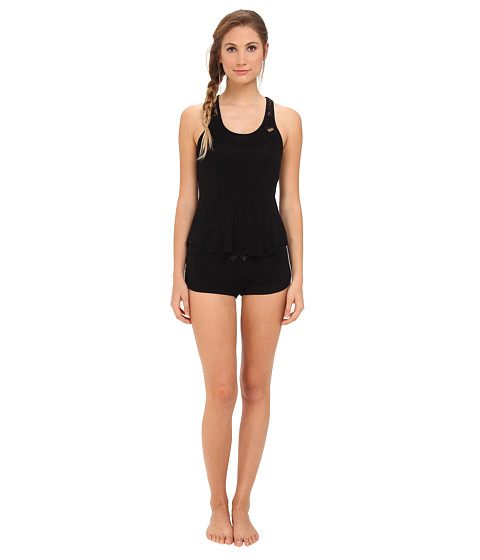 Betsey Johnson - Lace Racerback Short PJ Set 731753 (Black) Women