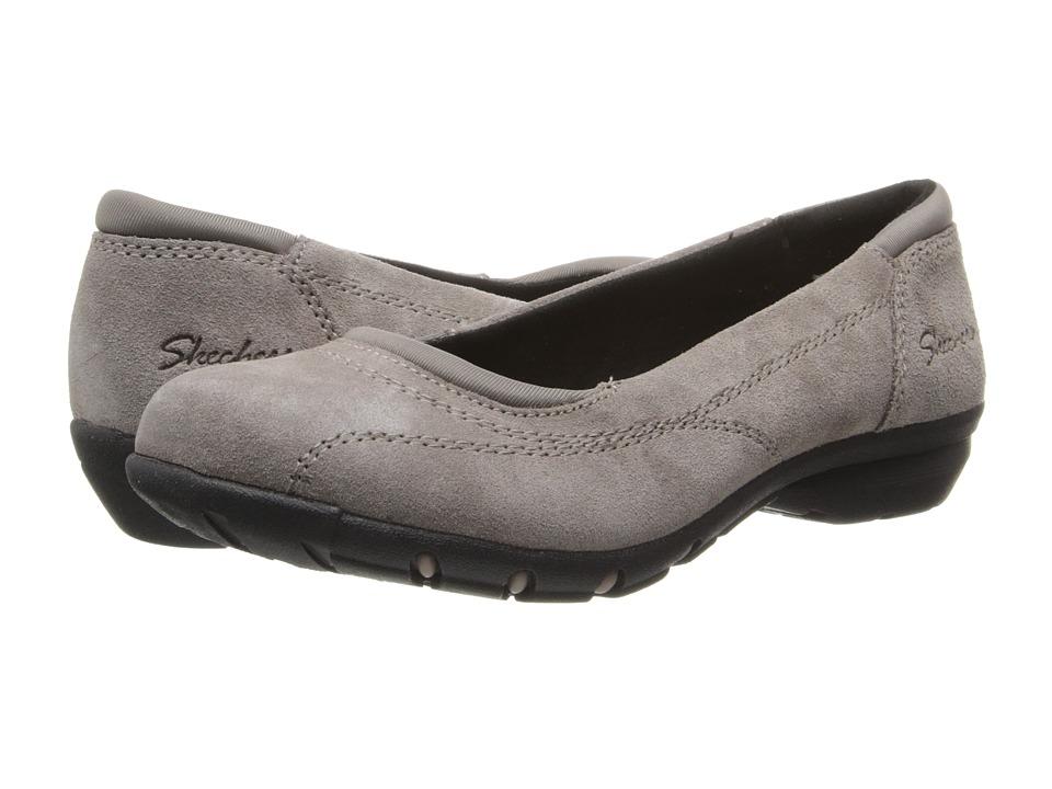 SKECHERS - Career - Girl Friday (Taupe) Women's Slip on Shoes