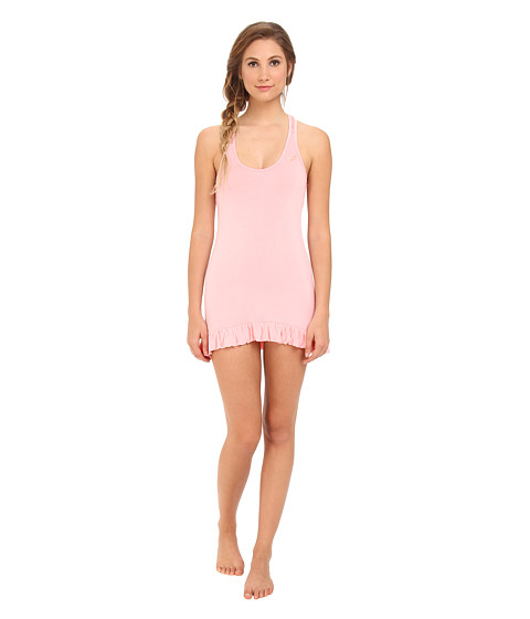 Betsey Johnson - Lace Racerback Chemise 732753 (Peach Daiquiri) Women's Pajama