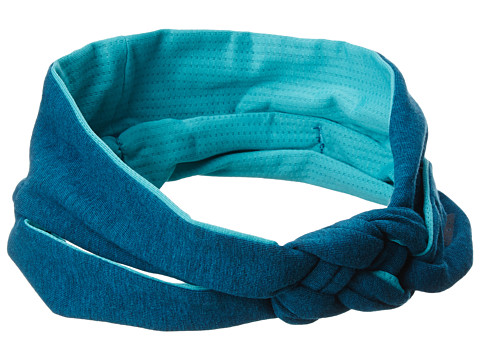 adidas Kids - Ultimate Top Knot Headband (Little Kid/Big Kid) (Heather Power Teal/Vivid Mint) Headband