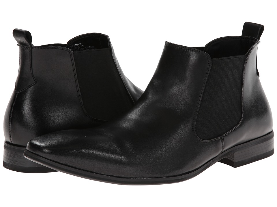 Steve Madden - Bennyy (Black Leather) Men