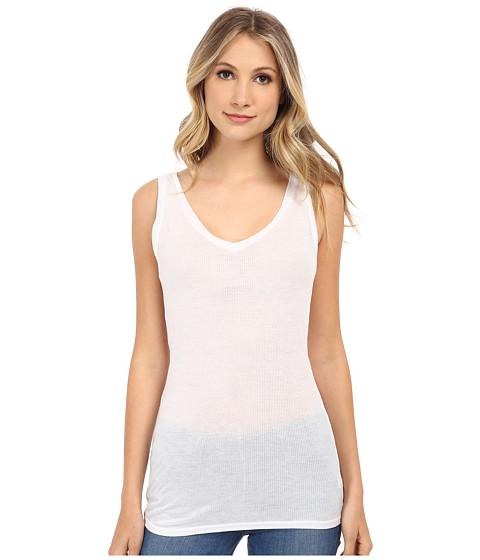 LAmade - Double V Rib Tank (White) Women's Sleeveless